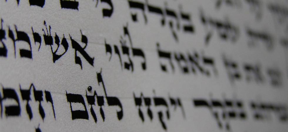 Newly written letters on a scroll